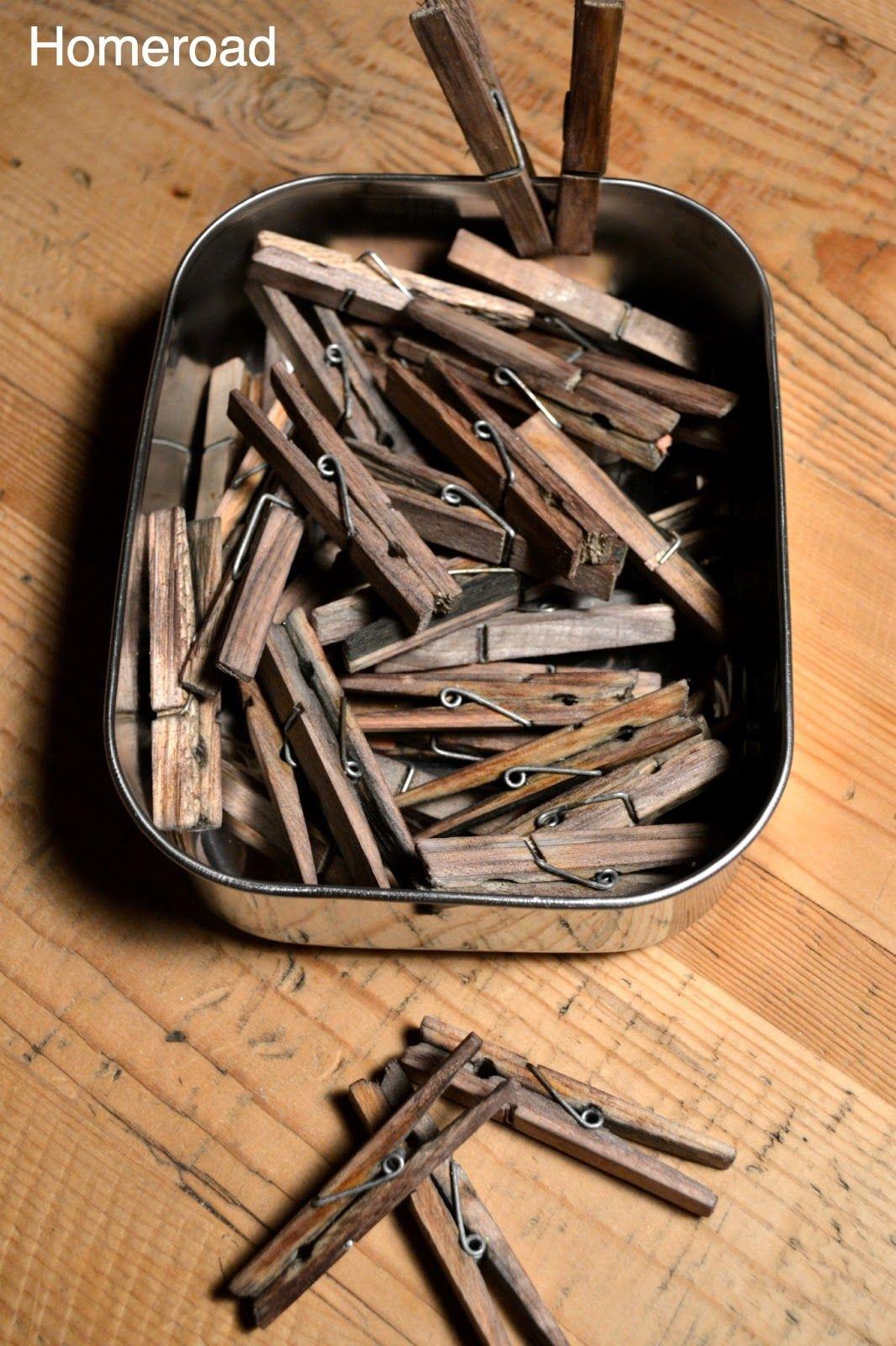 Diy Aged Clothespins