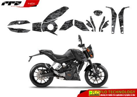 Ktm duke 125 200 390 decals stickers motocross graphics