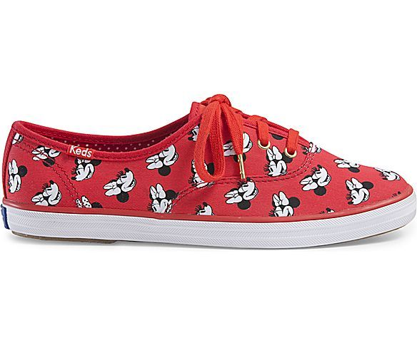 KEDS X MINNIE MOUSE CHAMPION, Red Print   Keds, Disney shoes