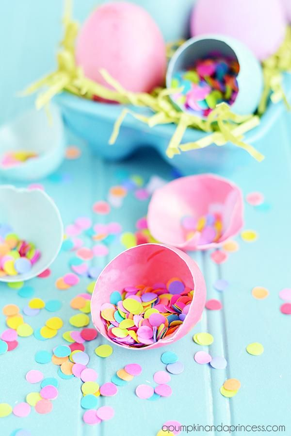 How To Make Confetti Eggs Easy Easter Crafts Easter Gift For