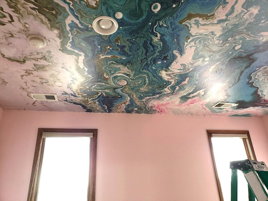 Peel Stick Wallpaper On The Ceiling Eclectic Twist Wallpaper Ceiling Wallpaper House Design Eclectic Wallpaper