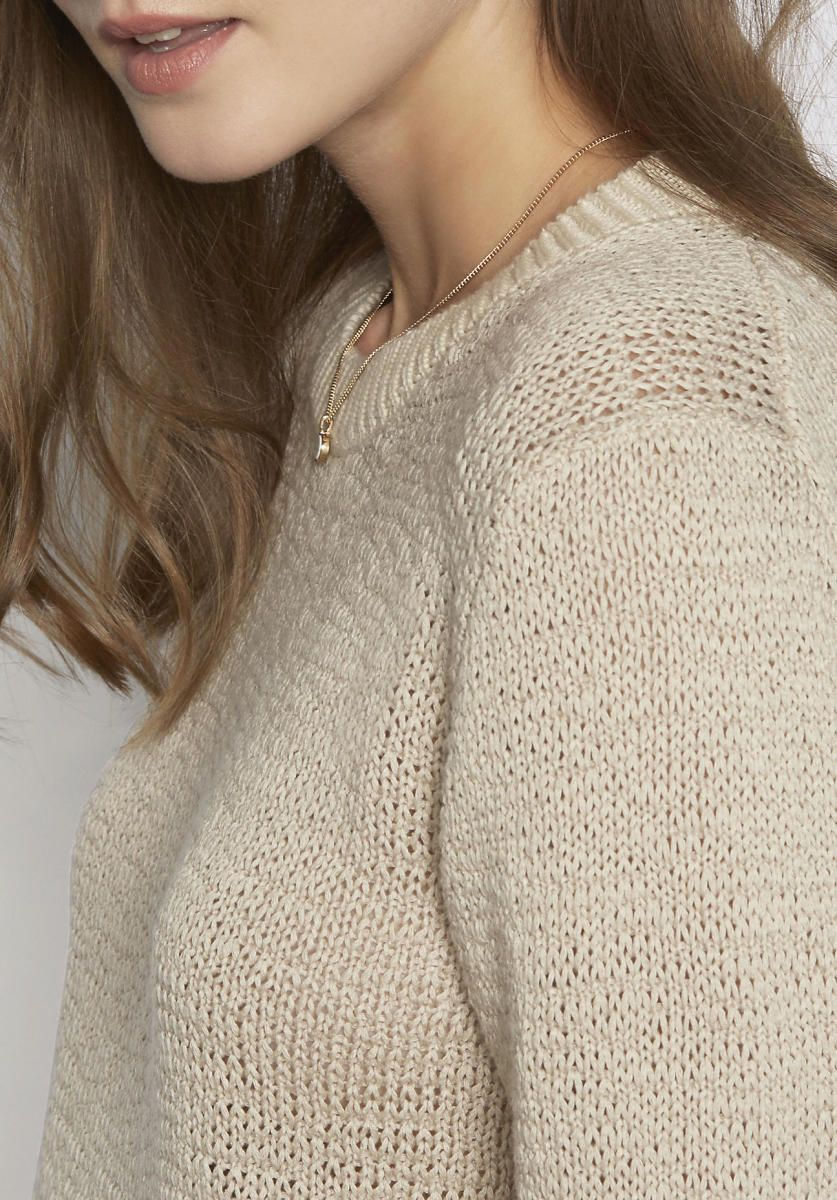 8e29d8c18e1c hessnatur Damen Pullover aus Bio-Baumwolle – beige – Größe 44 Jetzt  bestellen unter
