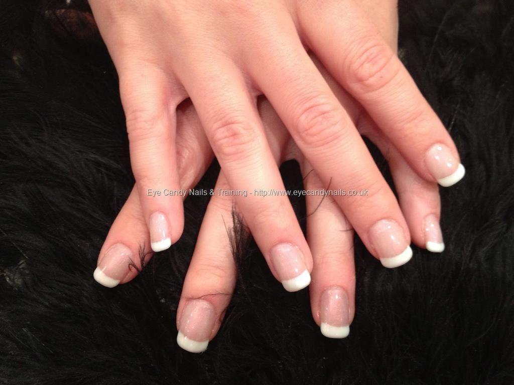 Acrylic nails with French gel polish | SUMMER | Pinterest | Mani ...