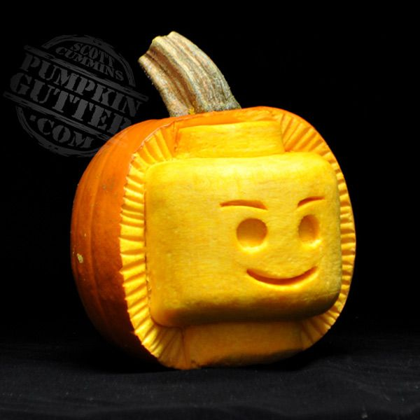 LEGO pumpkin for Halloween