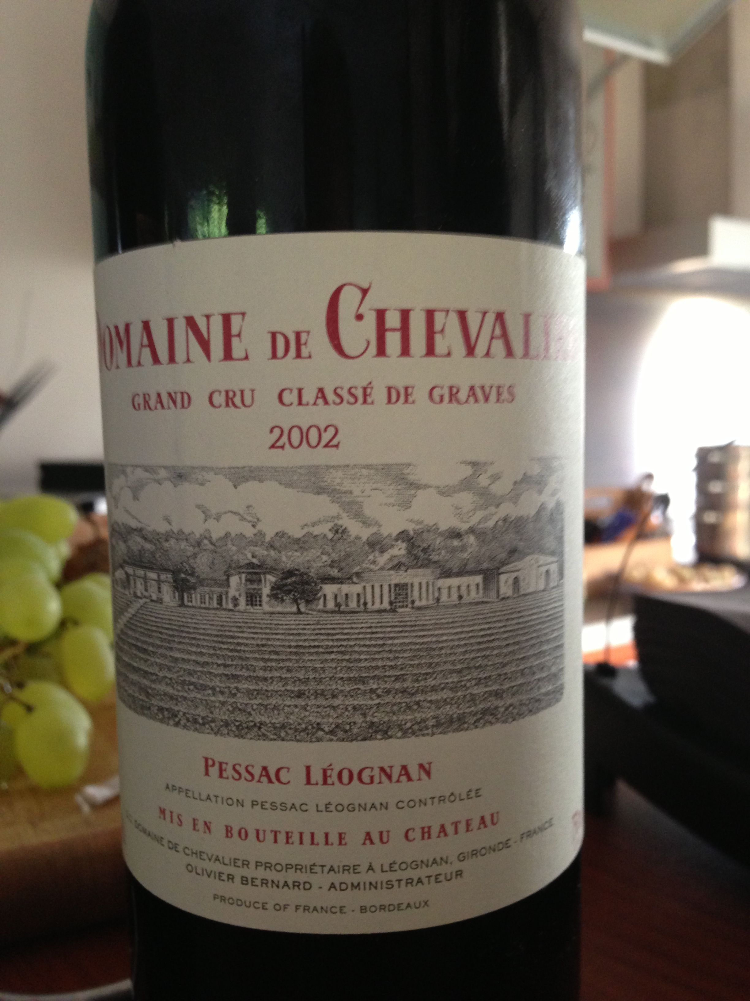 The birthday party moved on to a fuller Bordeaux, nice and rich