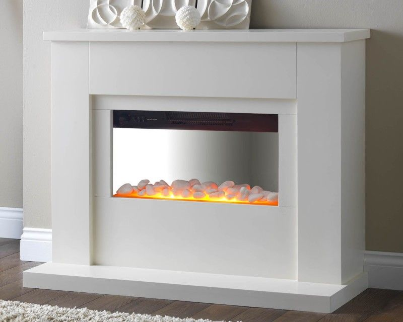 Electric Fireplace sears electric fireplace : modern white electric fireplace | Fireplace Design | Pinterest ...