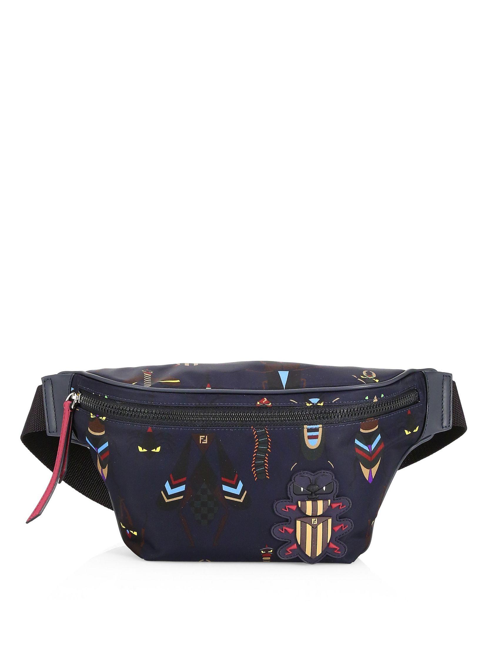Fendi Embellished Nylon Belt Bag  73dc658e093a1