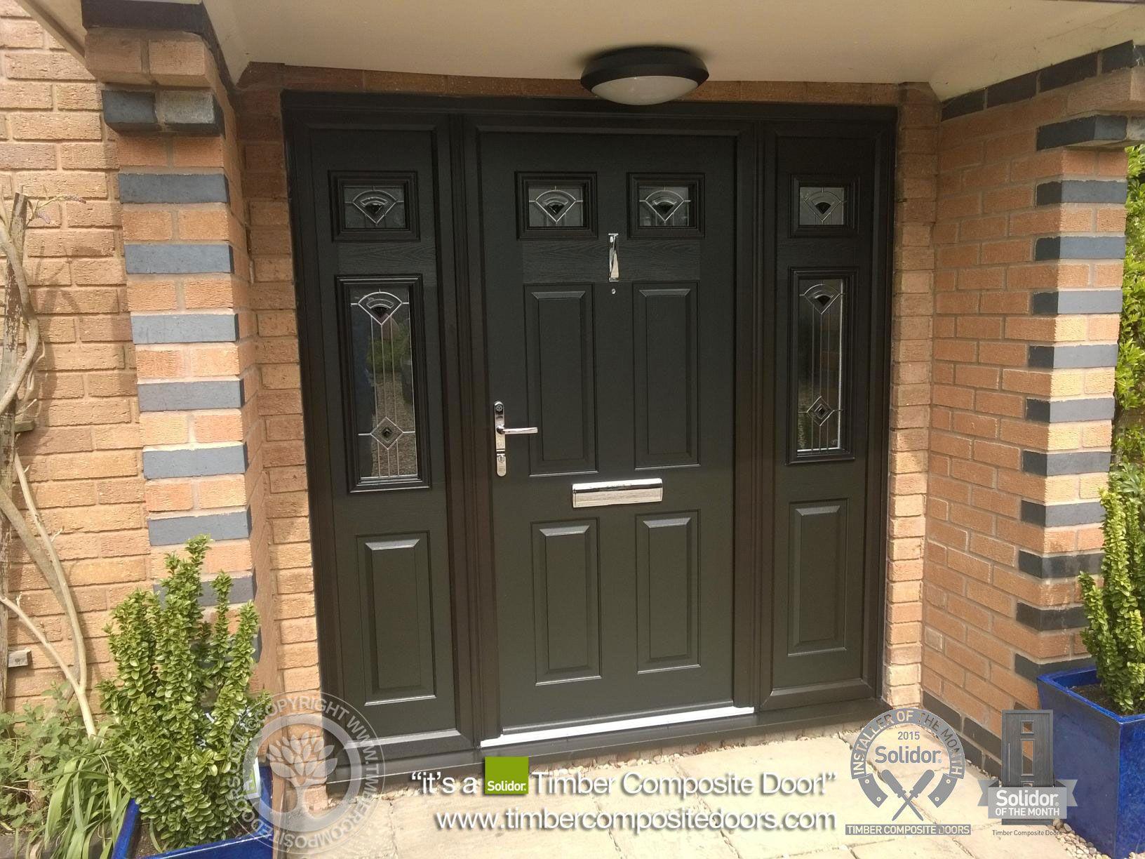 Black composite georgian front doors side panels google for Front door and side panel