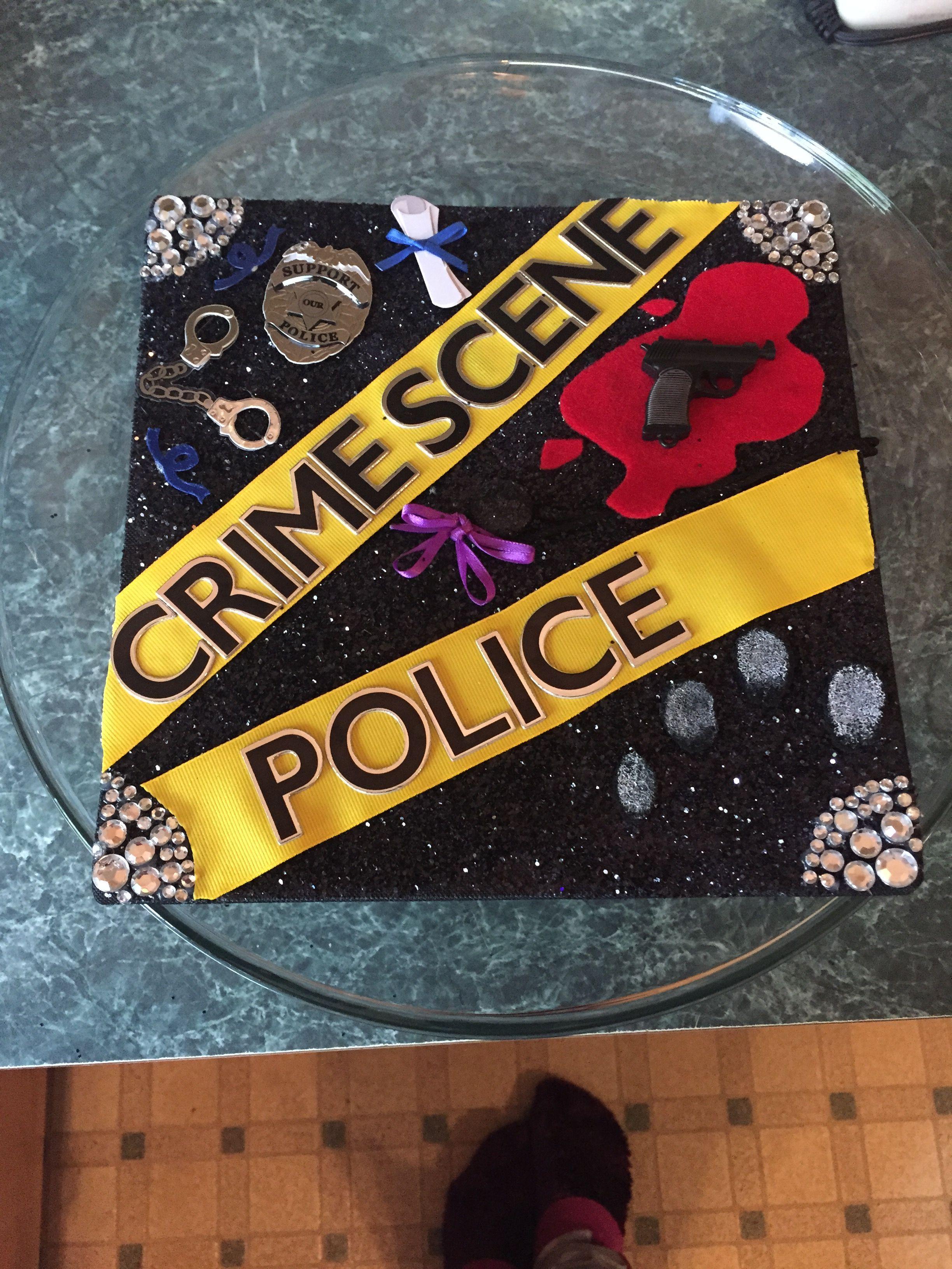 My Grad Cap For Criminal Justice College Graduation Cap Decoration High School Graduation Cap Graduation Cap Decoration