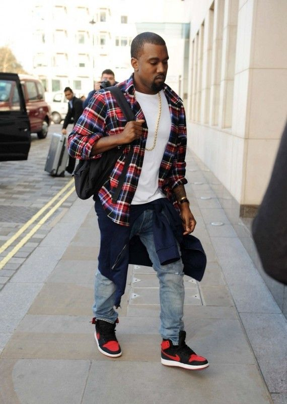 Kanye West Wearing His Own Designed Flannel In Early 2000s Urban Swag Outfits Swag Outfits Men Mens Fashion Casual Outfits