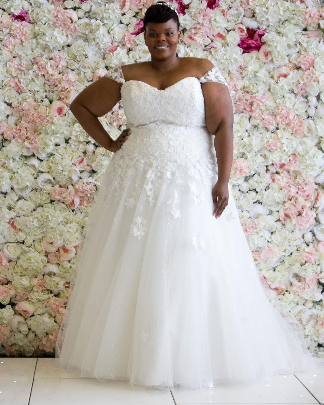 Custom plus size wedding gowns for fuller figured women | Pinterest ...
