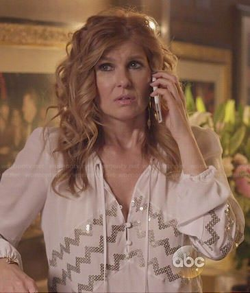 85b3de2a5e1f2b Do you want to own your own blouse just like Rayna s white blouse with zig  zag sequins as seen on  nashvilleabc   Check out wornontv.net nasville
