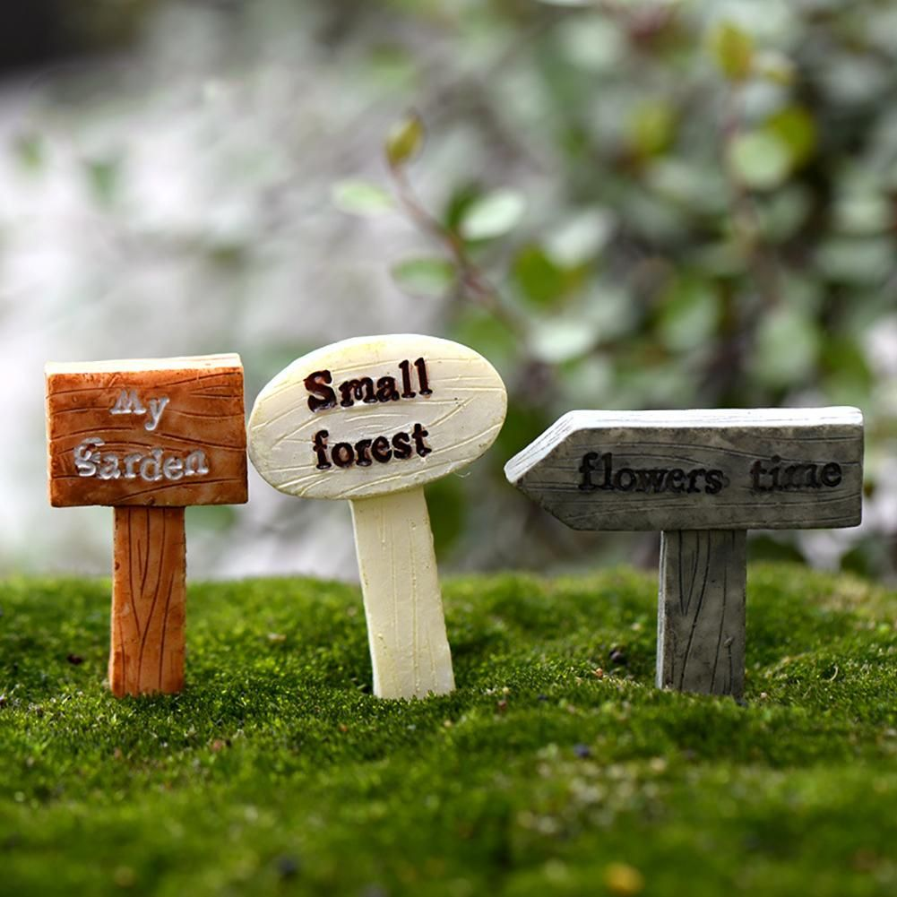 Resin Water Well Pool Grassland Miniature Fairy Garden Decor Mini Landscape DIY