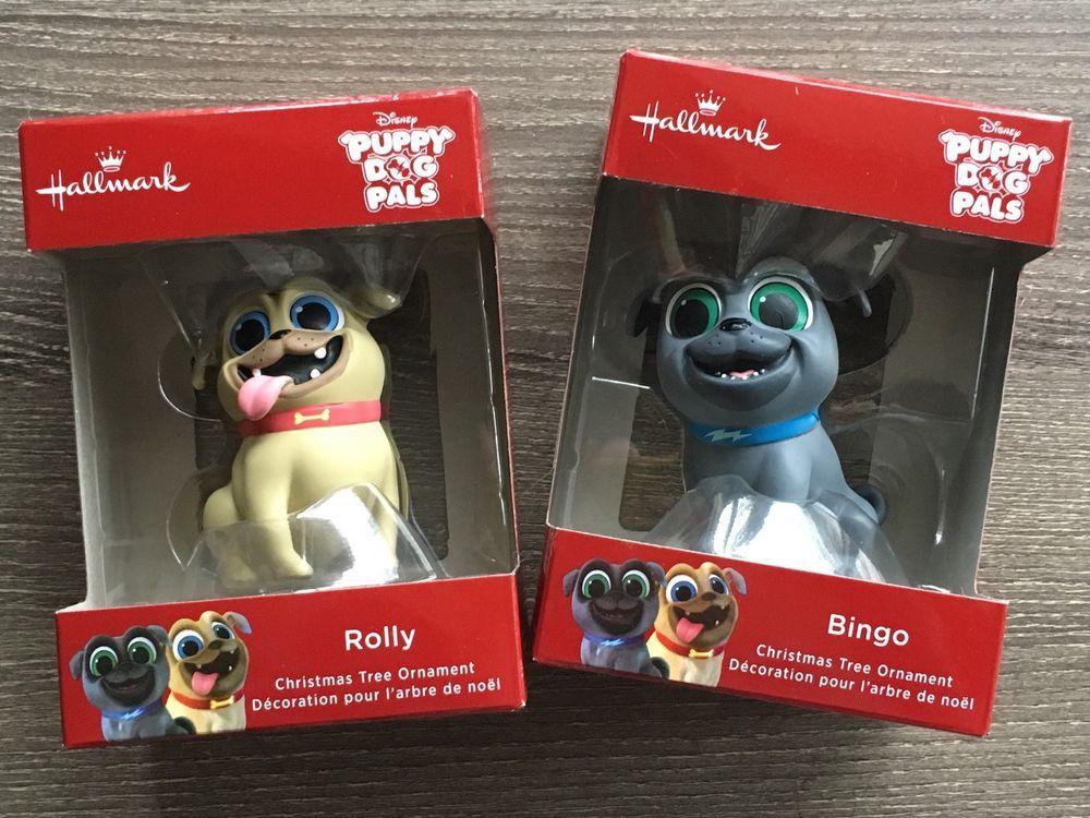 NEW Disney Puppy Dog Pals Set of 2 Bingo Rolly Hallmark