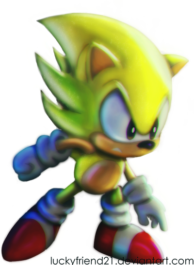 Classic Super Sonic By Zekukn Sonic Sonic And Amy Sonic The Hedgehog