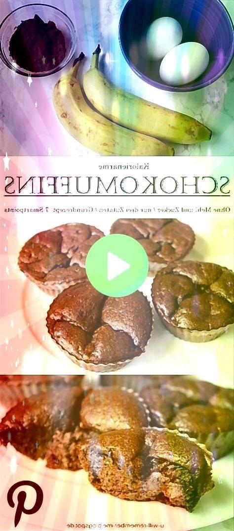 Kalorienarme BananenEiSchoko Muffins  Kein Zucker und Mehl  7 Smartpoints für alle REZEPT  Kalorienarme BananenEiSchoko Muffins  Kein Zucker und Mehl  7 Smartpoints...