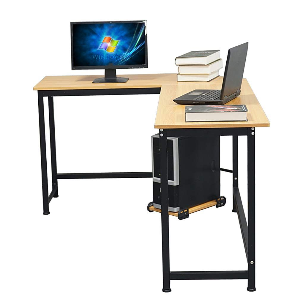 L Shaped Desktop Flat Angle Computer Desk Home Office Furniture Study Dorm Room Writing Table Desktop Computer Desk Large Computer Desk Desk