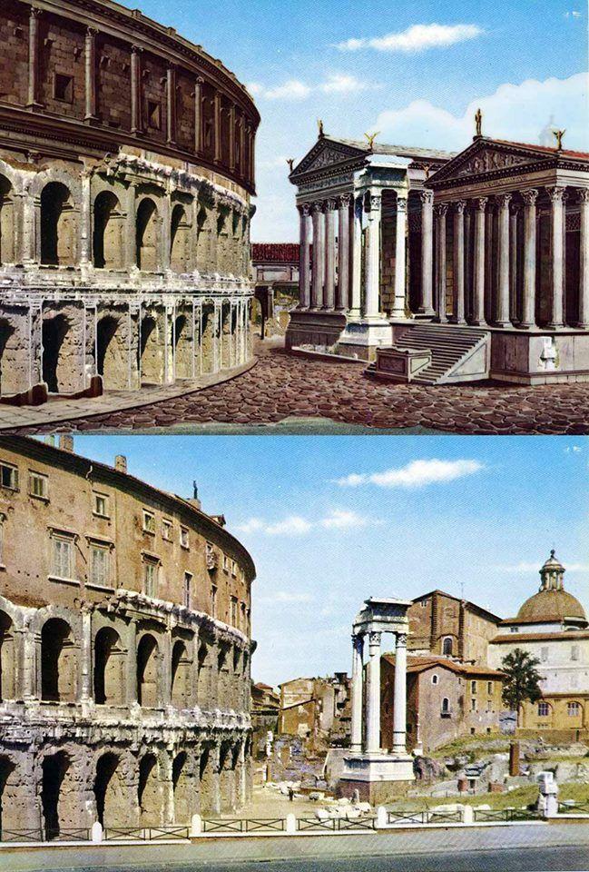 Roma come era ai tempi dei romani e come è oggi (con