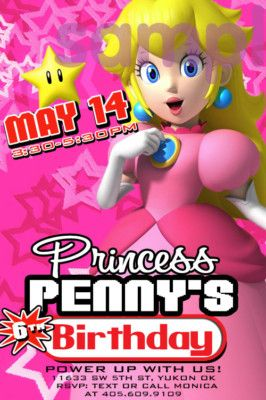 Princess Peach Invite Mario Kart Party Nintendo