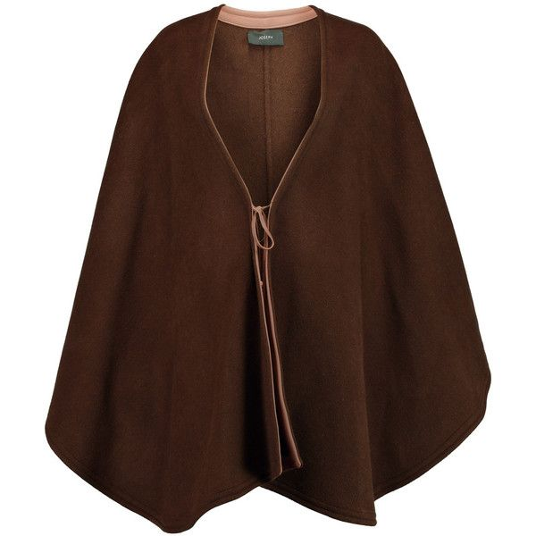Joseph Oslo leather-trimmed wool and cashmere-blend cape (1.685 BRL) ❤