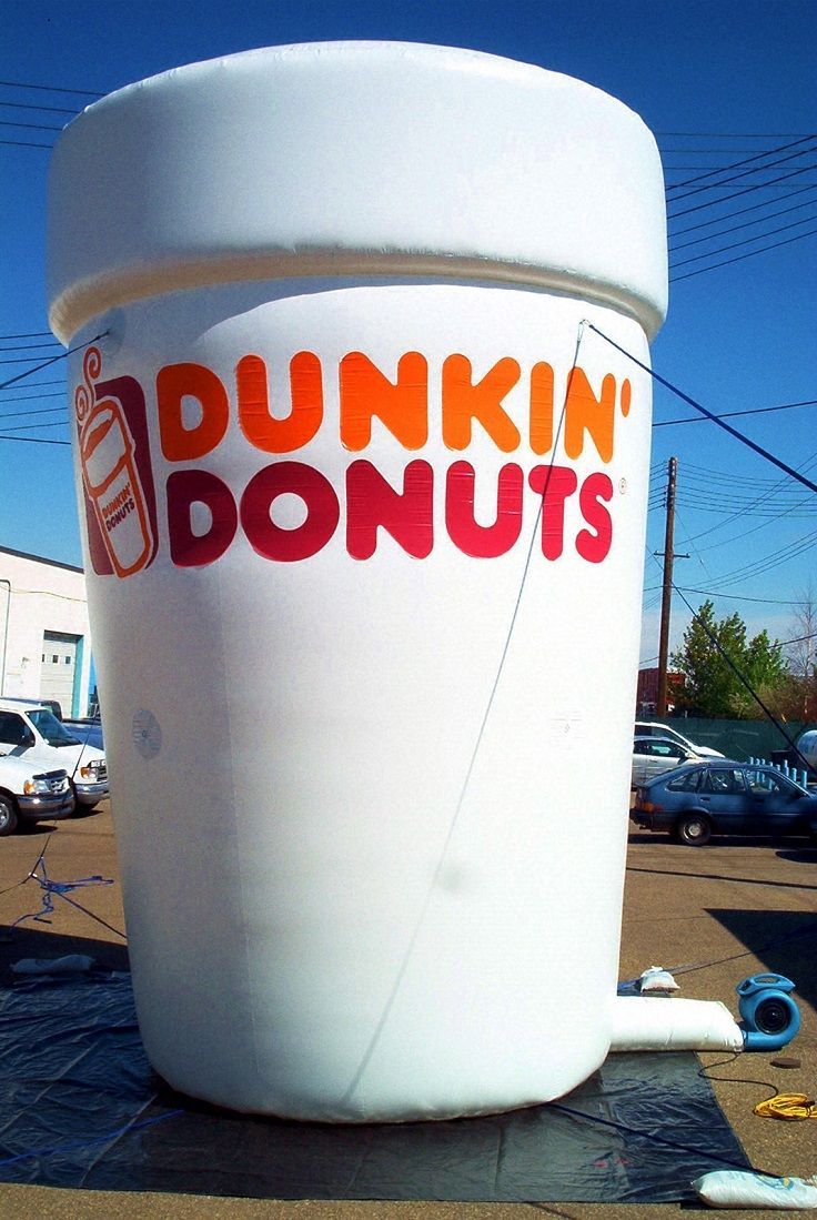 Dunkin\' Donuts Inflatable Advertising Cup | hv | Pinterest | Donuts
