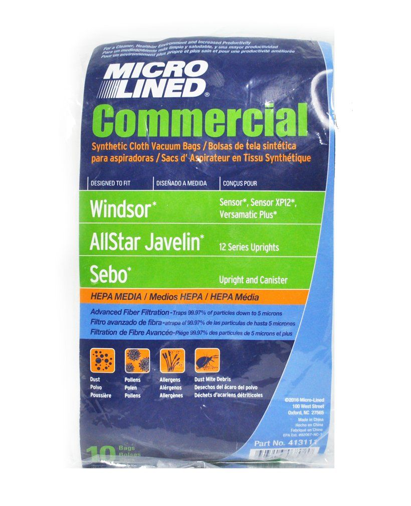 Windsor Sensor HEPA Cloth Synthetic Commercial Upright