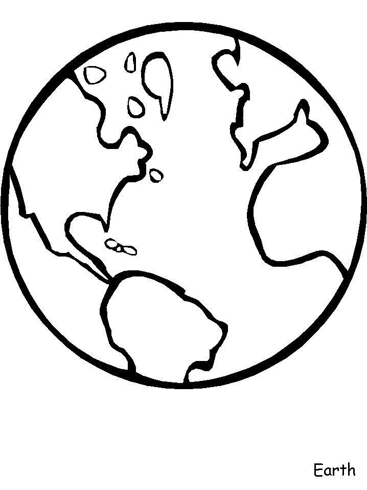 World Coloring Page Boyama Sayfalari Gezegenler Boyama Kitaplari