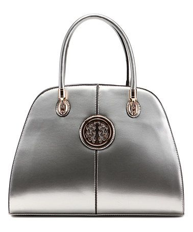 Another great find on #zulily! Silver Amanda Satchel by MKF Collection #zulilyfinds