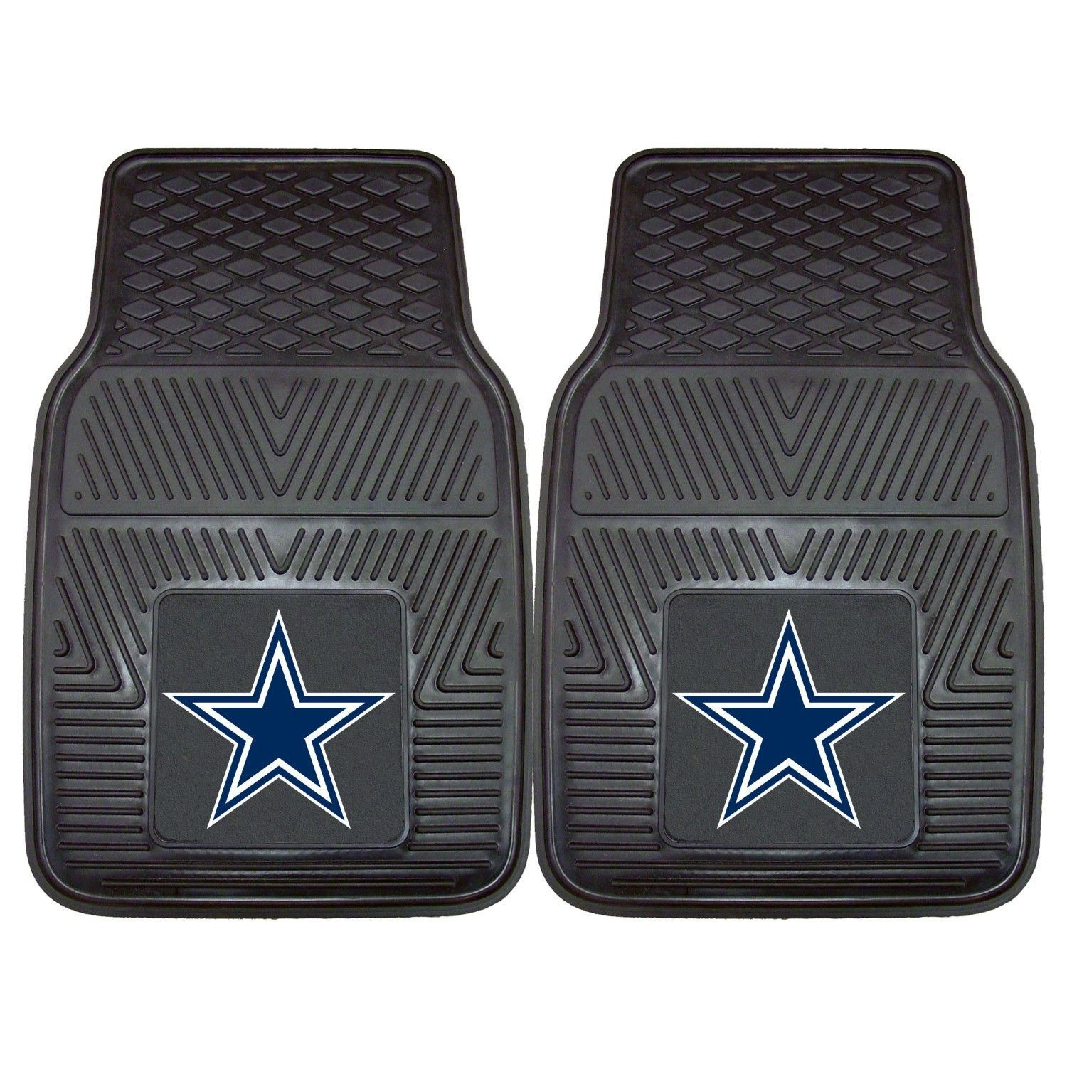 Fanmats 2 Piece Vinyl Car Mat Set NFL - Dallas Cowboys