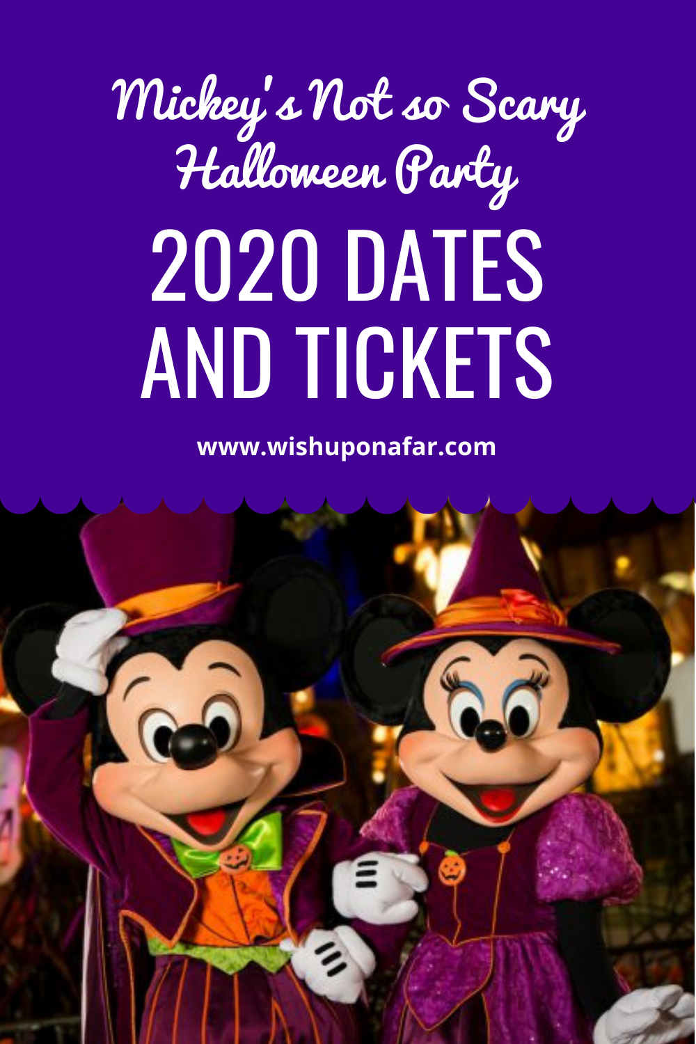 2020 Mickey's Not So Scary Halloween Party Dates and