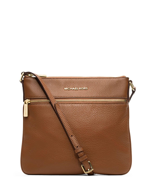 MICHAEL Michael Kors Bedford Flat Leather Zip Crossbody Bag