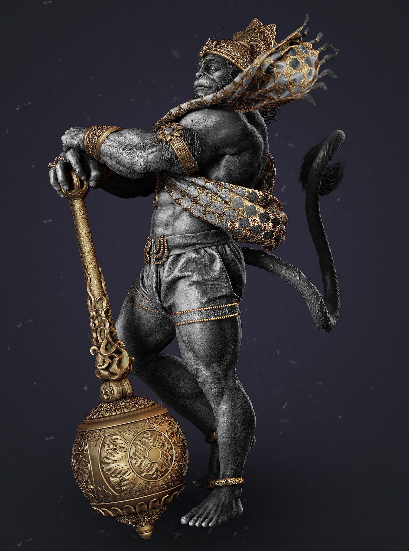 ArtStation - Hanuman Hindu God , Gaurav Kumar | Clip art in 2019
