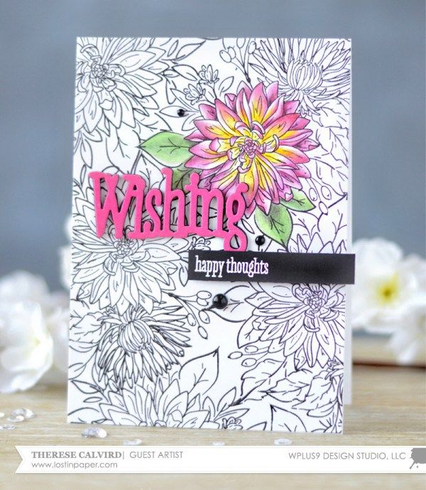 Project stamped floral greeting card with a coloring page look project stamped floral greeting card with a coloring page look m4hsunfo