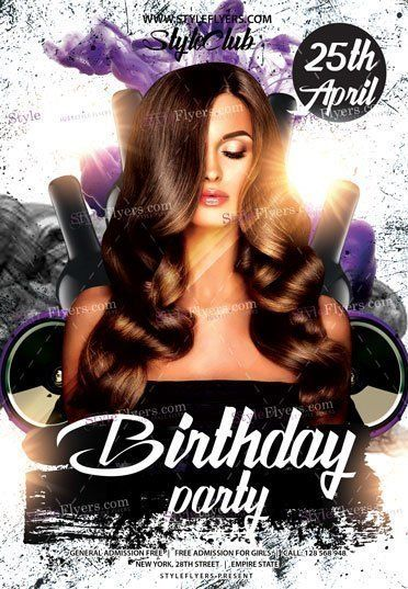 Birthday Party Psd Flyer Template  Flyers    Psd Flyer