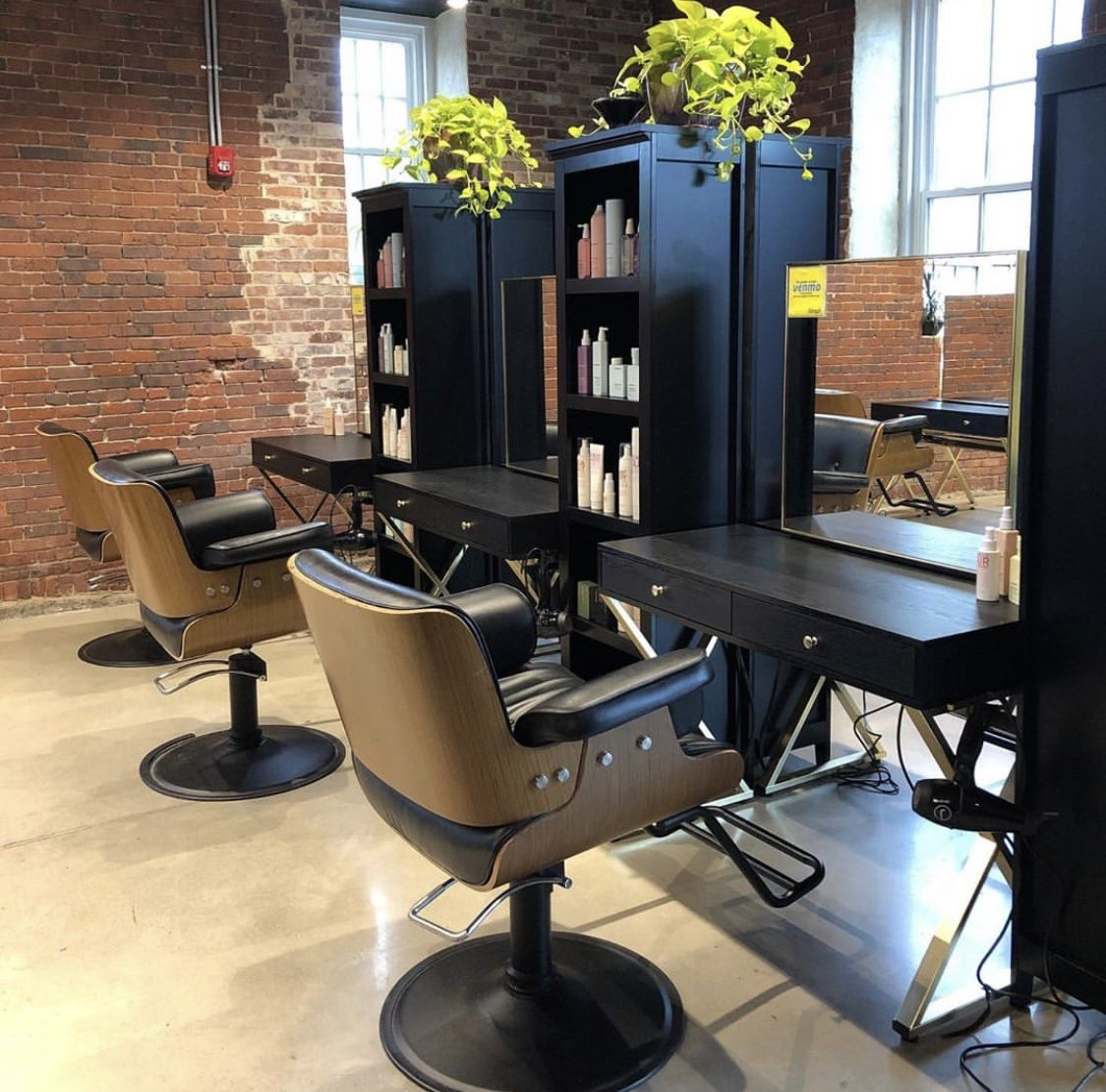 Spotted Kona Styling Chairs At The Beautifully Rustic Oomph Salon