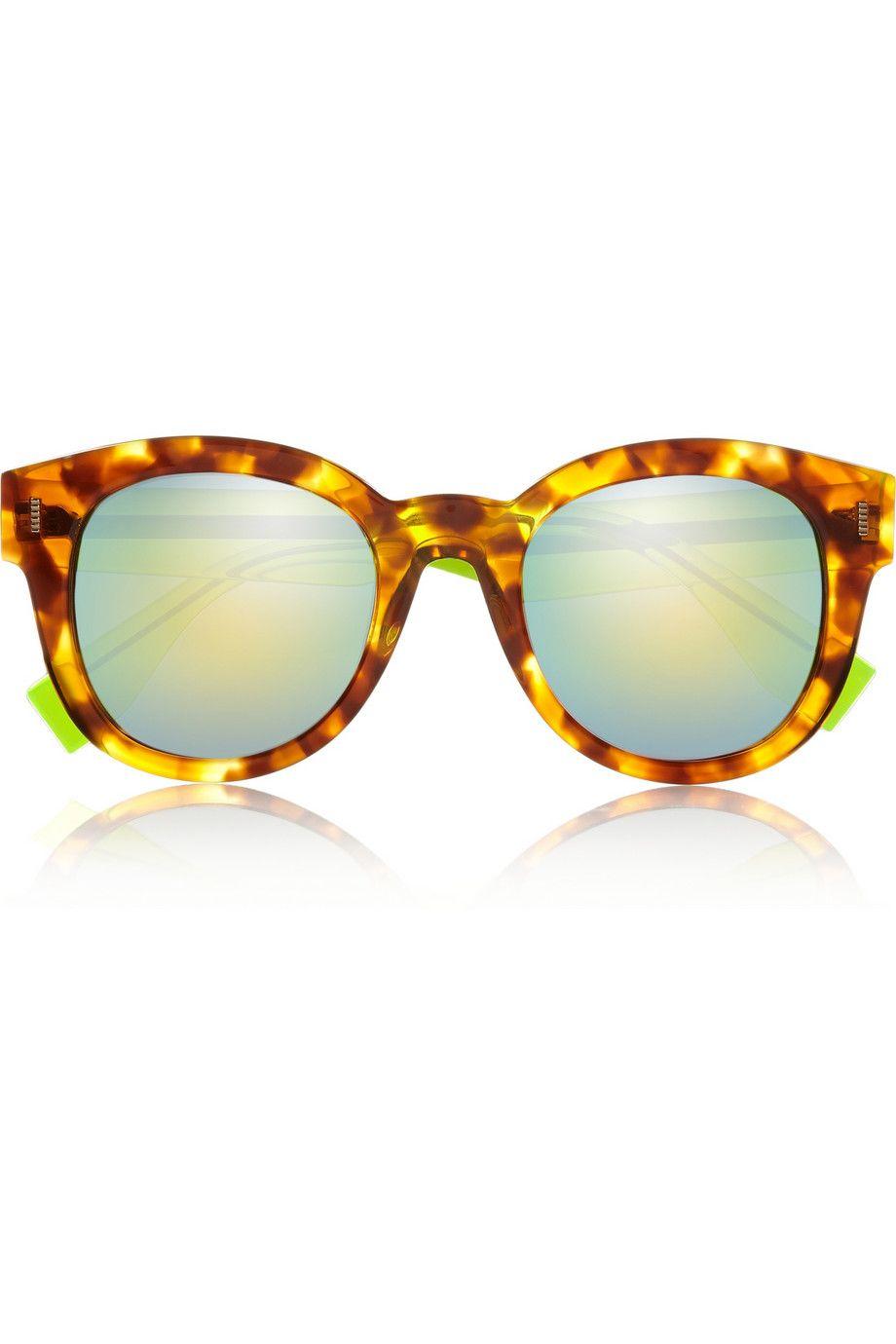 Fendi | D-frame acetate mirrored sunglasses | NET-A-PORTER.COM ...