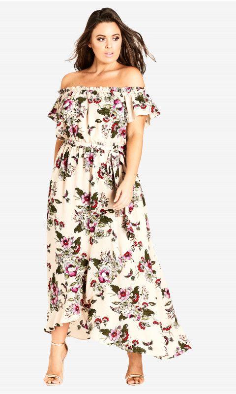 Lolita Floral Off Shoulder Maxi Dress All Dressed Up Pinterest
