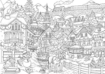 winter wonderland  printable adult coloring pages coloring book pages adult coloring pages