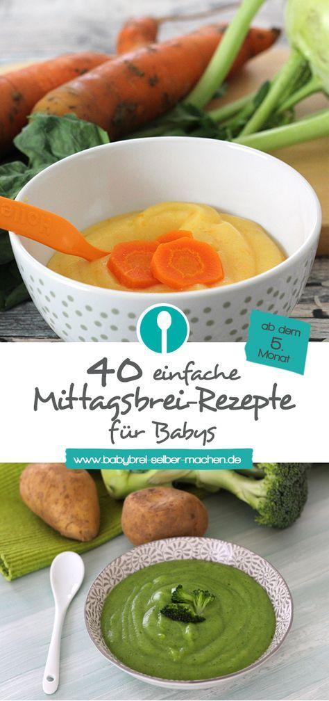 Brei Rezepte zum Mittagessen ab dem 5. Monat: Machen Sie Baby Brei selbst   – Babynahrung