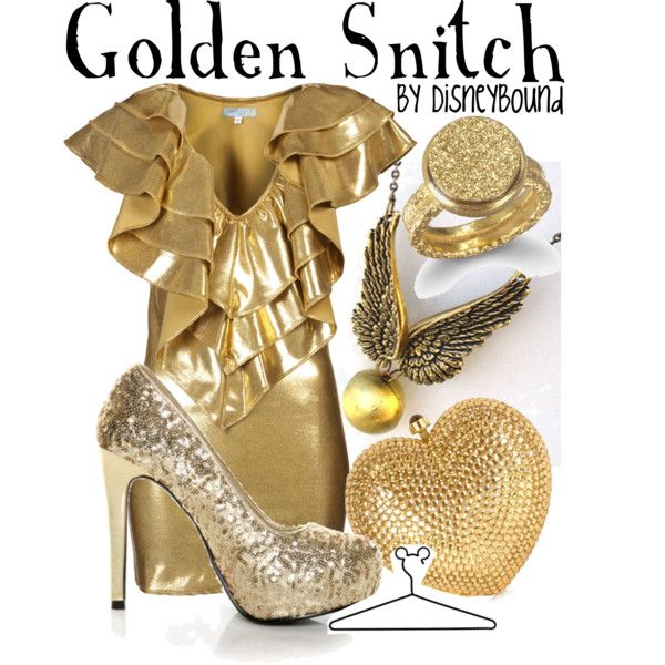 Golden Snitch, created by lalakay on Polyvore