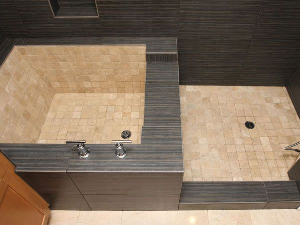 Roman Shower Ideas | tranquil tiled roman tub , We had a small ...