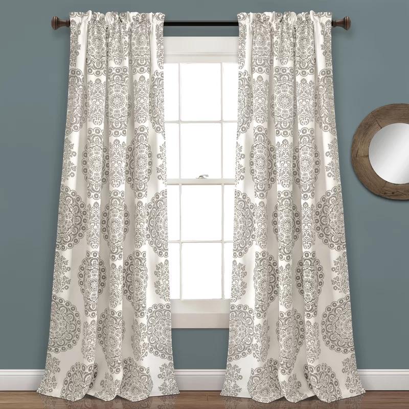 Ryans Floral Room Darkening Thermal Rod Pocket Curtains Drapes