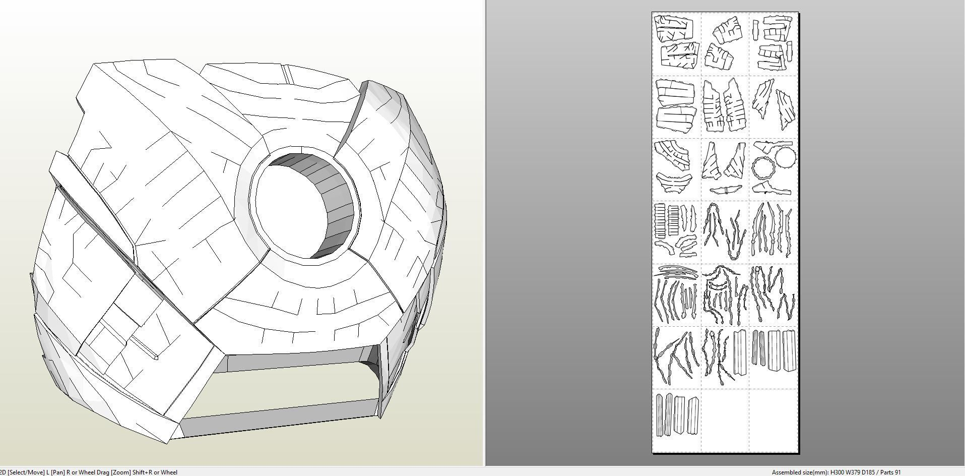 Papercraft .pdo file template for Iron Man - MK7 Full Armor. | Iron ...