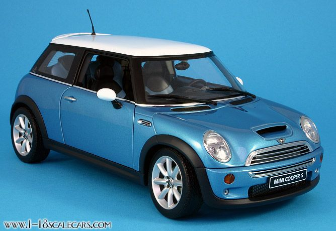 Electric Blue Mini Cooper