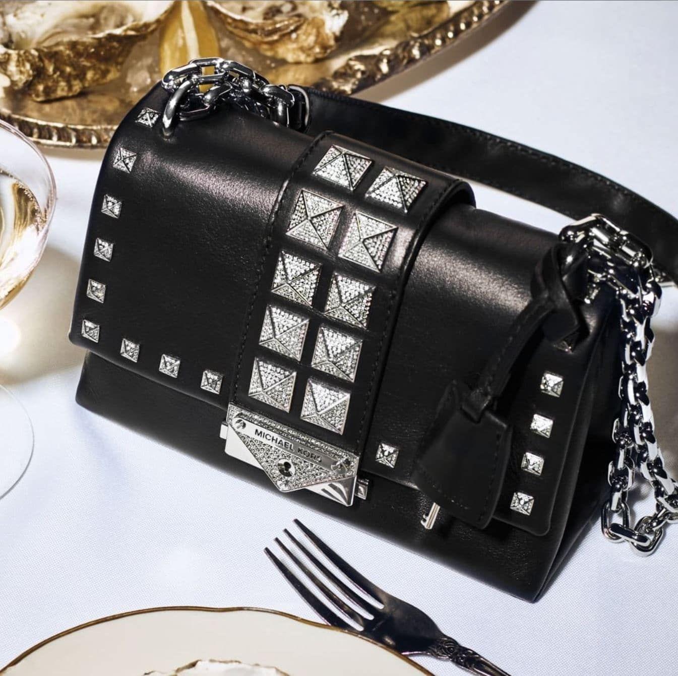 ON SALE Michael Kors Cece Studded Bag   The Perfect Black Evening ...