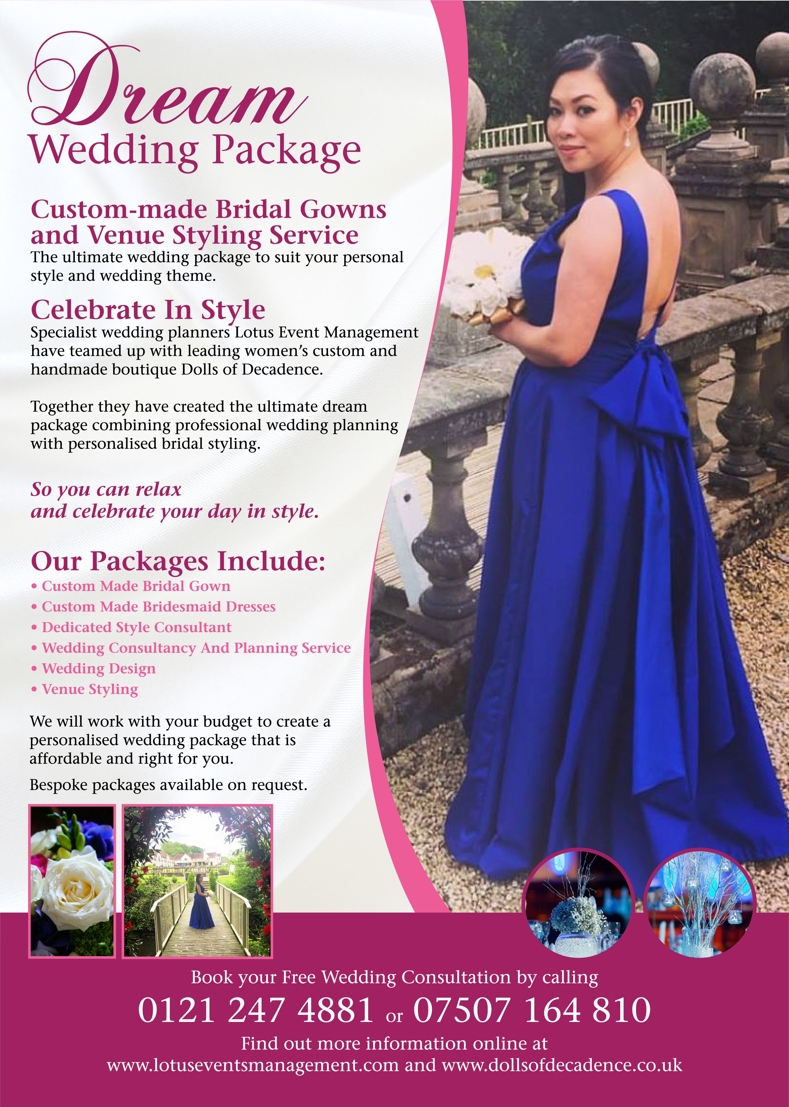 Create your dream custom made bridal gown and perfect wedding day ...