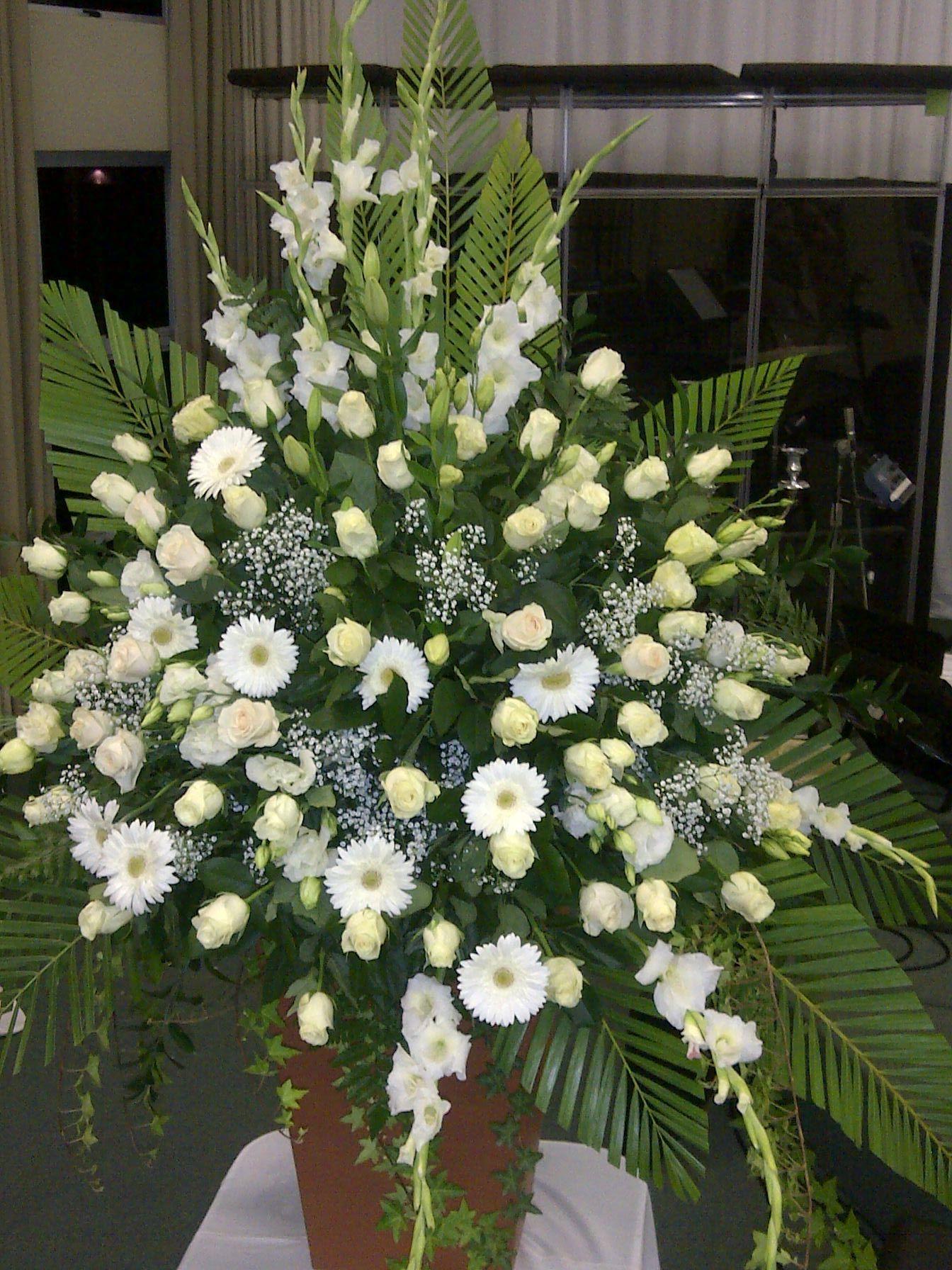 Green & White Mass WEDDING FLOWERS