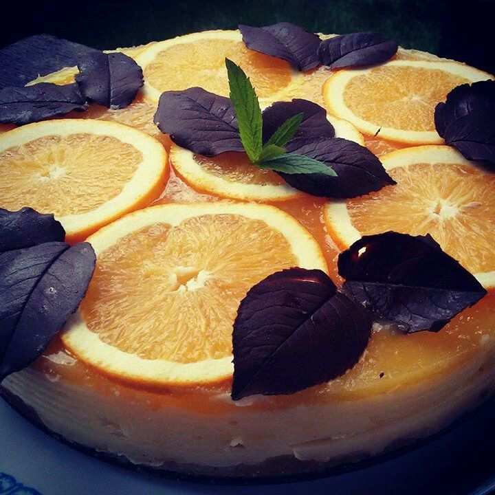No-bake orange cheseecake