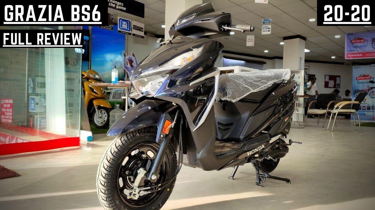 2020 Honda Grazia 125cc Bs6 Full Review Price And Mileage Exhaust In 2020 Exhaust Sounds Grazia Honda