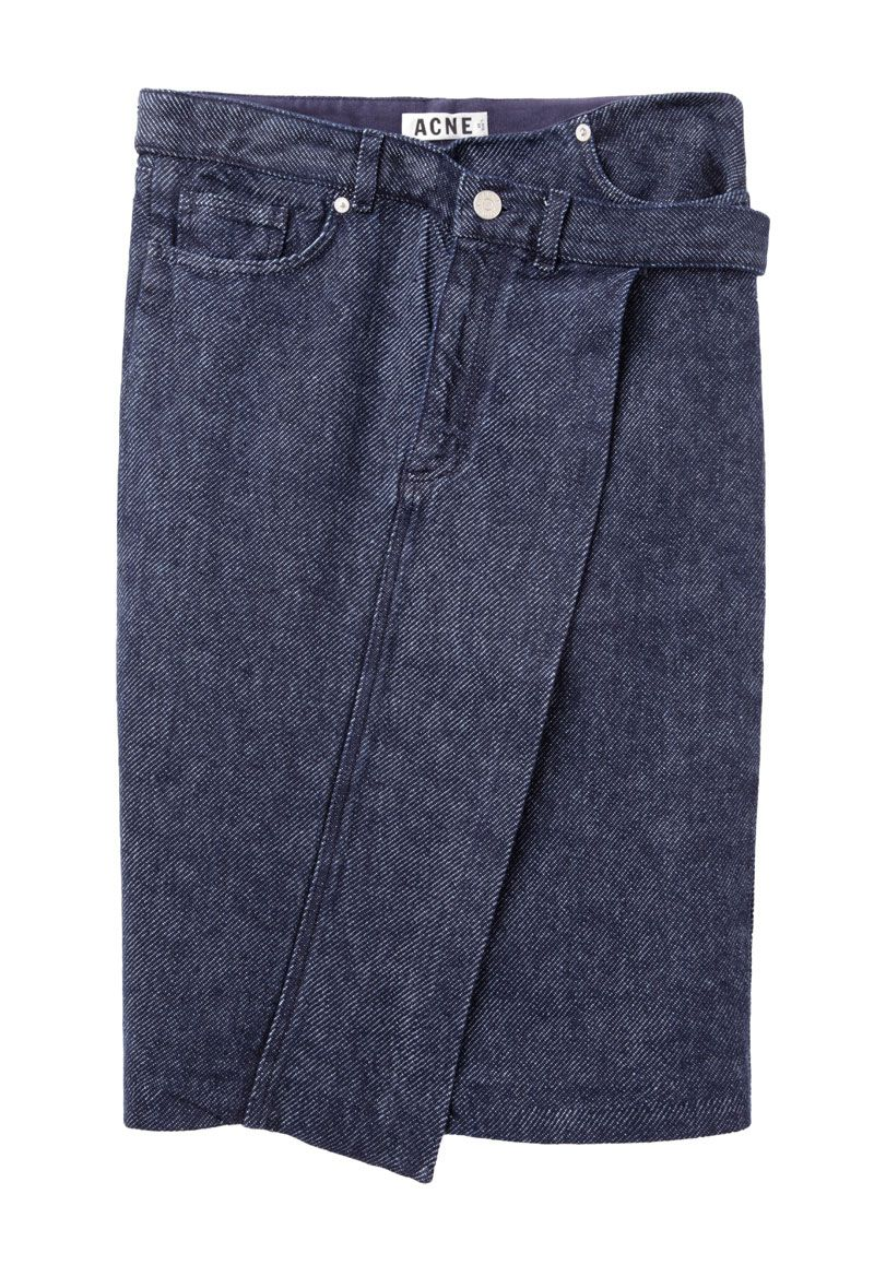 cd189c9ba4 Modelos · Estilo. Mujeres. Acne Studios   Ophelia Denim Skirt Falda  Asimétrica
